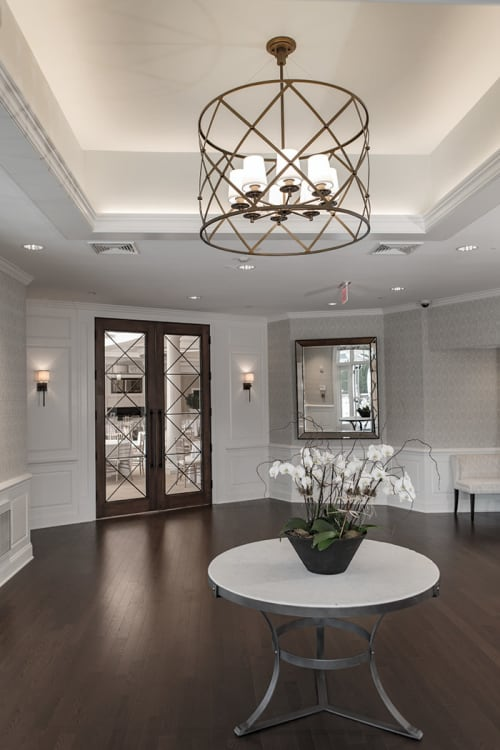 Pendants by ILEX Architectural Lighting seen at Shorehaven Golf Club, Norwalk - Custom Pendants