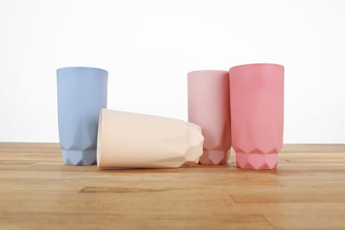 Cups by Tiny Badger Ceramics seen at Private Residence, New York - Tall Faceted Cup