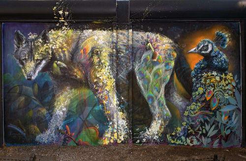 Street Murals by Ernesto Maranje seen at Wynwood Walls, Miami - Sentries