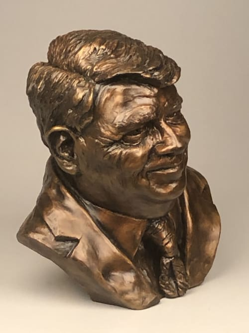 Public Sculptures by Sabine Senft seen at Dallas, Dallas - CMC bust
