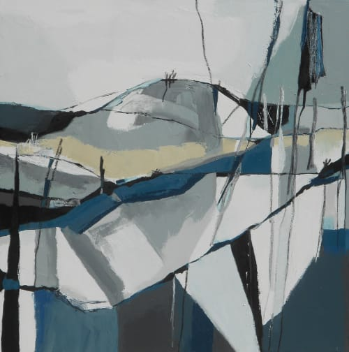 Paintings by Danielle Nelisse seen at Kihei Studio, Kihei - Wildfires Painting