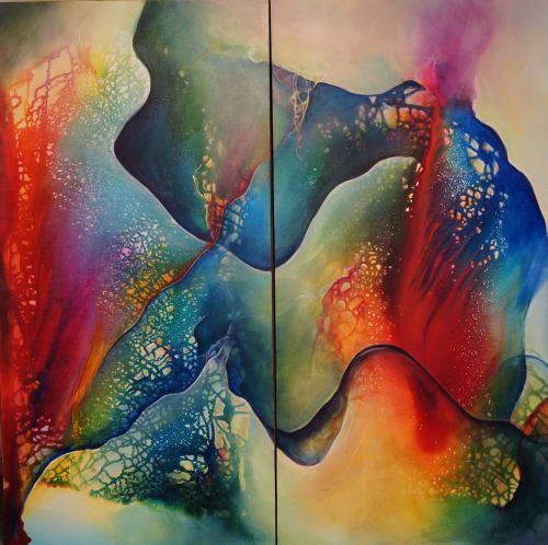 """""""A Complex Simplicity"""" diptych - 48""""x48"""" 