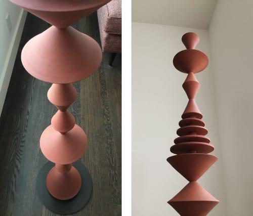 Sculptures by Zuzana Licko seen at Creator's Studio, Berkeley - Terra Cotta Totem Sculpture