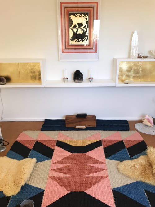 Rugs by TANU handwoven textiles seen at Private Residence, Santa Fe - House of the Standing Moon Rug