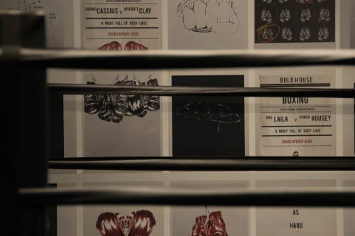 Wallpaper by Candice Kaye Design seen at BodyLove (BOLO), Toronto - Custom Prints