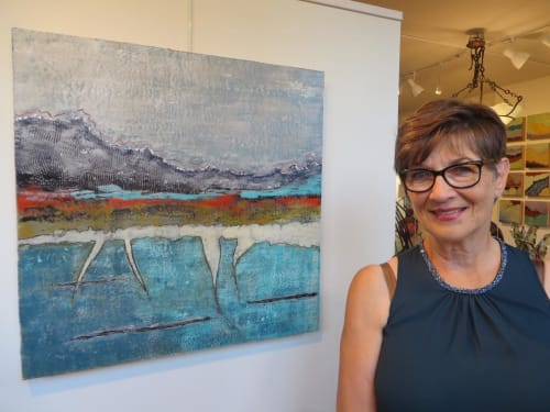 Paintings by Patricia Gerkin seen at Private Residence, Ogunquit - Alternative Terrain