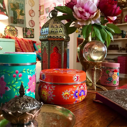Art & Wall Decor by Wandering Tins seen at Alexandra Felgate's Home, Adelaide - Tin Cannisters