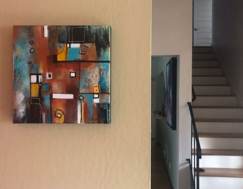 Paintings by Laurie DeVault Fine Art seen at Private Residence, Martinez - Tribal Spirit