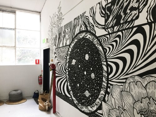 Murals by Paperlily Studio seen at Melbourne, Melbourne - Photography Studio Mural