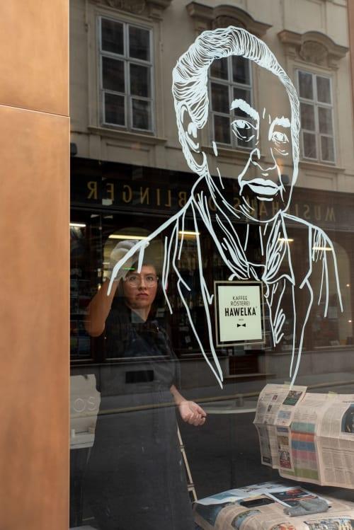 Street Murals by GadeKoStudio seen at Dorotheergasse, Wien - Frei_Blick Dorotheergasse