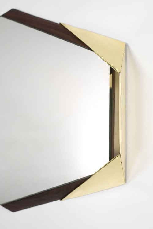 Wall Hangings by Arcana seen at Piers 92/94, New York - Argon Mirror