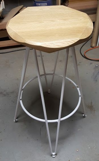 Chairs by Marco Bogazzi seen at Whole Foods Market, Arlington - Marco Bogazzi Hewn Stools