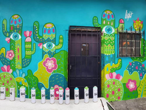 Street Murals by Light Andrade seen at Zone 1, Guatemala City - BonitoMiBarrio 2019