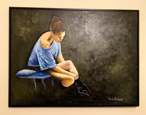 Paintings by Vic L.Bicomong seen at Private Residence, Elk Grove - My favorite dancer