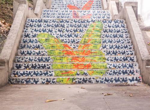 Street Murals by Marisabel Bazan at La Cresta, Panamá - Ill Camino della Farfalla