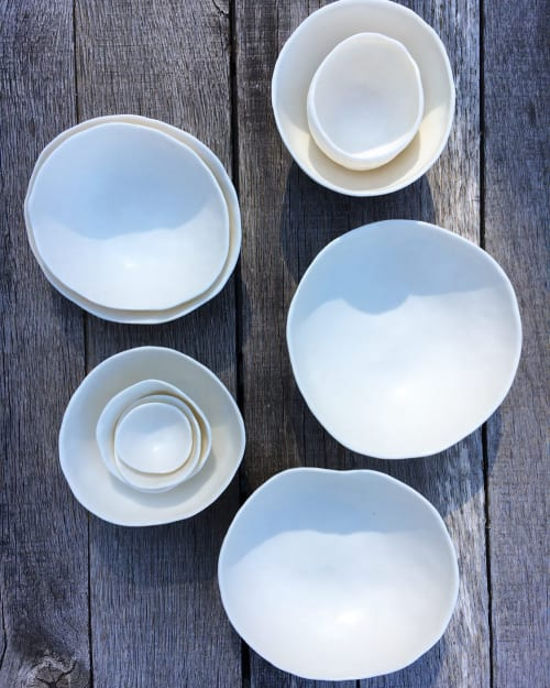 Ceramic Plates by Optimism and Co. seen at Private Residence - Porcelain Handbuilt tableware