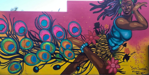 Street Murals by Timothy B, the Artist seen at Livermore Mural Festival, Livermore - Sista Sankofa