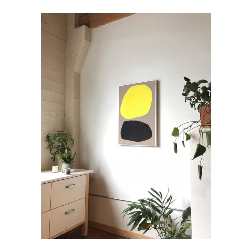 Paintings by Mia Farrington seen at Private Residence, Portland - Wolf Moon