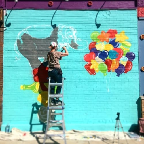 Murals by Cheri Lee Charlton seen at Carnival Foods, Chicago - Carnival Grocery Mural