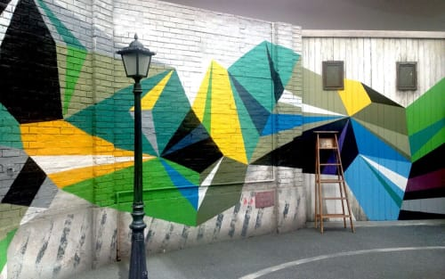 Murals by MATT W. MOORE seen at Tokyo - MWM Diamonds.
