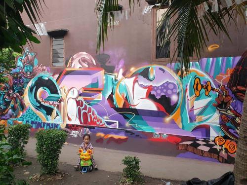 Street Murals by Semor the mad one seen at Jakarta, Jakarta - Wall mural