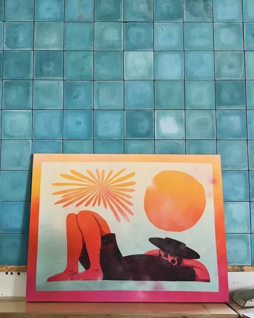 Paintings by DJ Javier seen at The Waterfront Venice, Los Angeles - Siesta