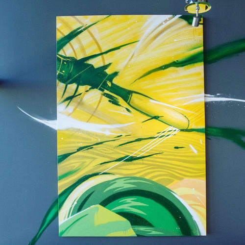Paintings by Illuminaries seen at Oakland Athletics, Oakland - Canvas Art