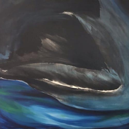 Paintings by Caroline Karp Artist seen at Davis Islands, Tampa - North Wall Series 1