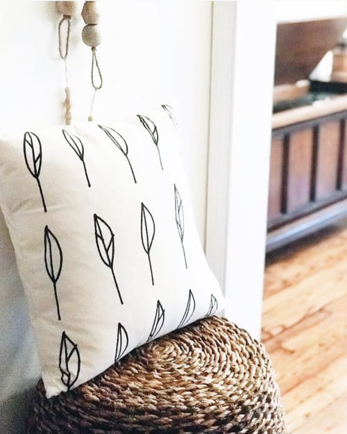 Leaves   Organic Cotton Pillow   Pillows by Little Korboose