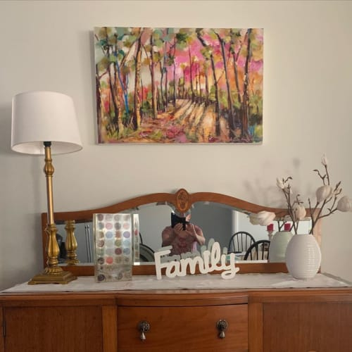 Paintings by Ann Rayment seen at Private Residence, Junee - Murrumbidgee Magic
