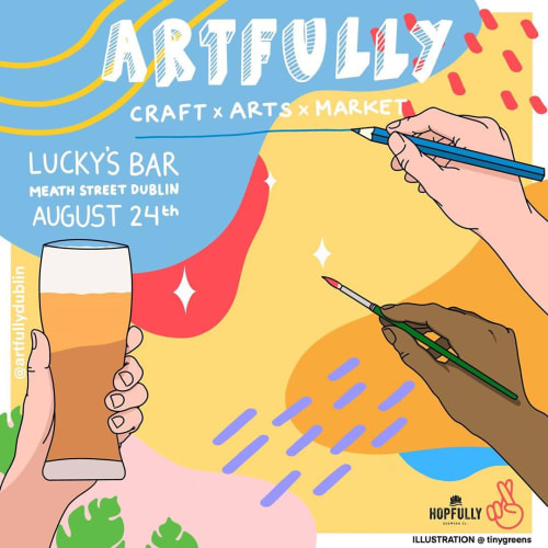 Art & Wall Decor by Tinygreens seen at Lucky's, Dublin 8 - Poster