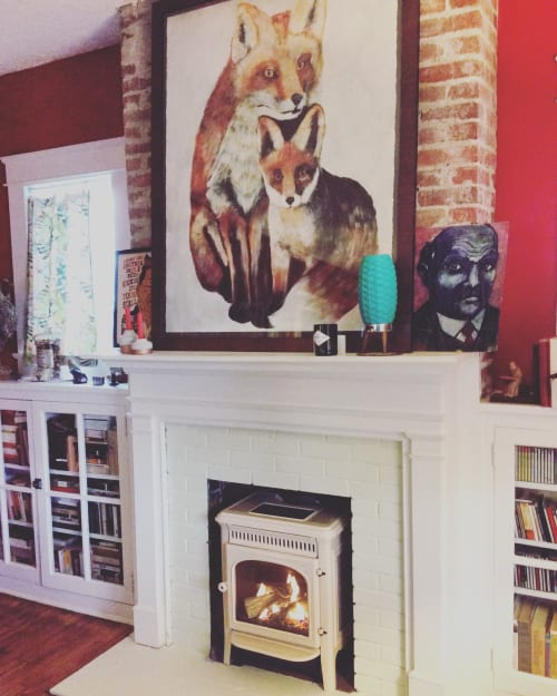 Paintings by Natalie Jo Wright seen at Private Residence - Fox & Kit
