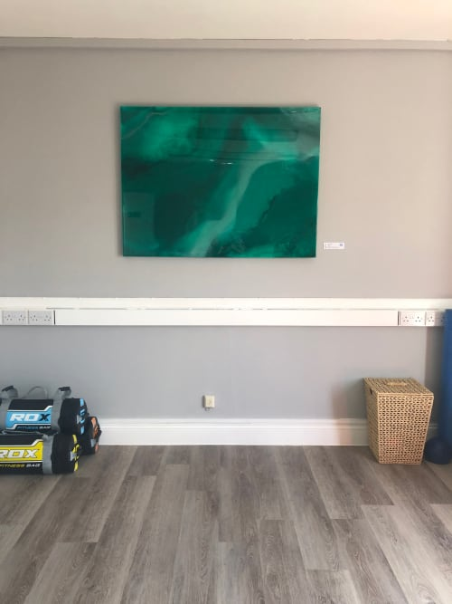 Emerald Delight   Paintings by Skevi - Your Abstract Artist   The Wellness Hub by Emma James in Berkhamsted