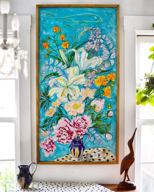 Paintings by Nikki Pilgrim seen at Private Residence, Bath - Rocco