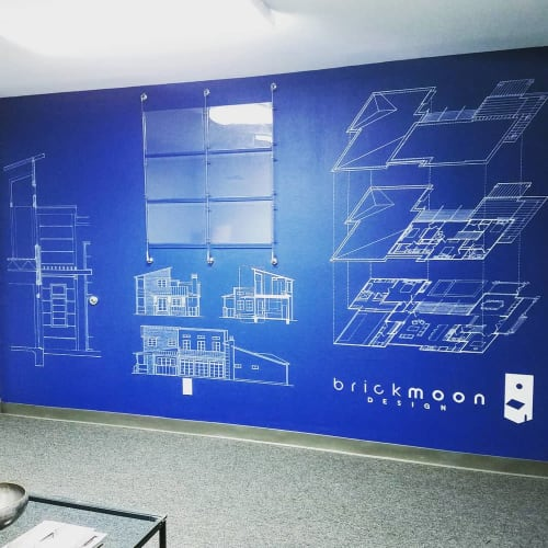 Murals by J Cordova Creations seen at Brickmoon Design, Houston - Architectural Mural