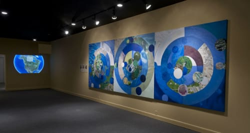 Paintings by Susan Q Brown seen at Brattleboro Museum & Art Center, Brattleboro - Wherever You Are is the Center of the World