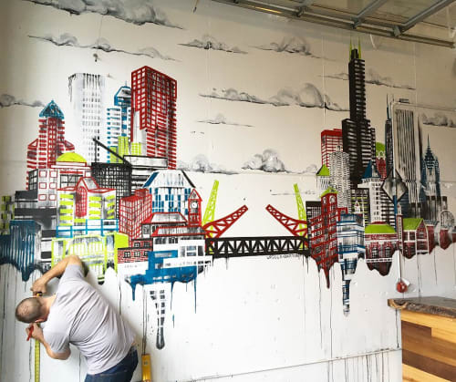 Murals by Ursula Barton at Sammich PDX, Portland - Sammich PDX Mural
