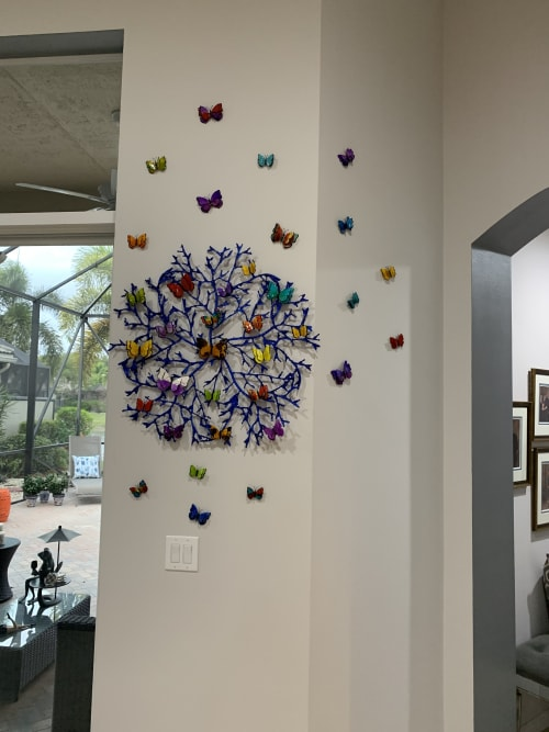 Sculptures by Art by Ancizar seen at Private Residence, West Palm Beach - Butterfly exodus