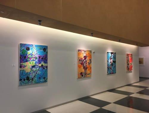Paintings by Karen Olsen-Dunn seen at 201 California, San Francisco - Paintings