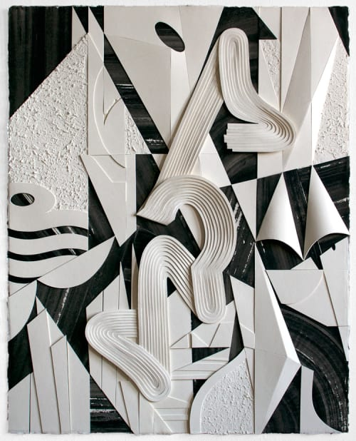 """Paintings by Jim Gaylord seen at Hotel Belleclaire, New York - Triptych: """"Guru Gaffe,""""  """"Whisper Network"""" & """"Starboard Blunder"""""""
