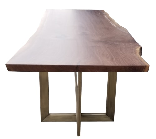 Tables by fab&made seen at Rockefeller Center, New York, New York - American Walnut live/free-form natural edge Dining Table