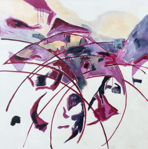 Paintings by Kathy Best Art seen at Melbourne, Melbourne - Blueberry Swirl