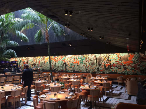 Murals by Gustavo Oviedo seen at 1664 Lenox Ave, Miami Beach - Tropical Osmosis at CHOTTO MATTE