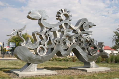 Public Sculptures by CJRDesign at Meridian Area, Meridian - Under the Sun and Dreaming