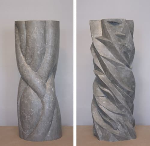 Art Curation by Eoin Burke seen at Elm City Vineyard Church, New Haven - Communion Pedestals for Elm City Vineyard Church