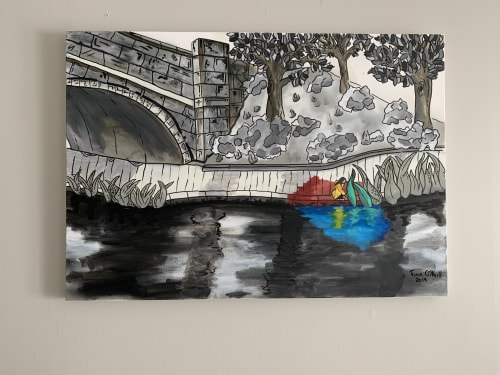 Paintings by Finn O'Neill seen at Private Residence - Dublin, Ireland, Dublin - A child's mind
