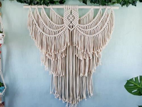 Macrame Wall Hanging by Desert Indulgence seen at Creator's Studio, Golden Valley - Angel Wings Macrame Wall Hanging