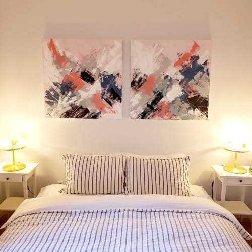 "Paintings by Patrick Skals Art seen at Private Residence, Toronto - ""Wildflower¹ and ²"""