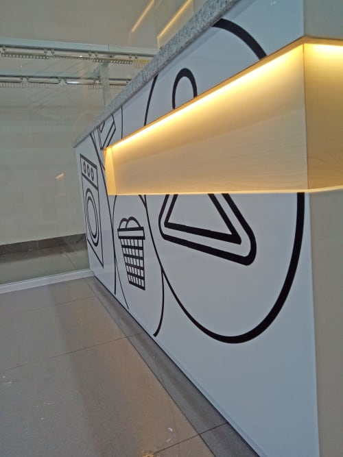 Interior Design by Simply Arch. seen at Jalan Pantai Indah Utara 1 - MyCherree Laundry Shop