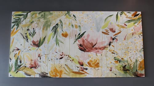 Paintings by Christina Kwan seen at Snackboxe Bistro, Doraville - Laos Watercolor Ink Painting
